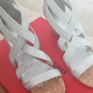 NIB Silver wedges